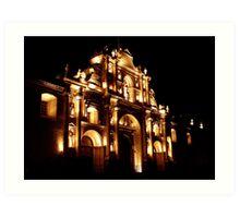 """Catedral de San José"" - Antigua Guatemala Cathedral, GUATEMALA. Art Print"