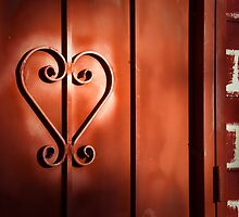 """Romantic Entry"" - heart shape on door by ArtThatSmiles"