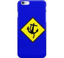 Navy Anchor warning sign yellow iPhone Case/Skin