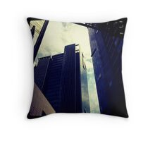 Offices - Singapore Raffles place Throw Pillow