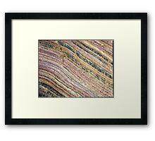 Rainbow Rock. Framed Print