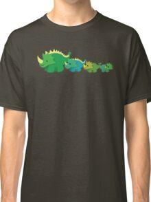Four dinosaurs cute mother and babies Classic T-Shirt