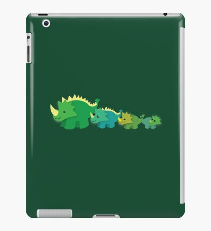 Four dinosaurs cute mother and babies iPad Case/Skin