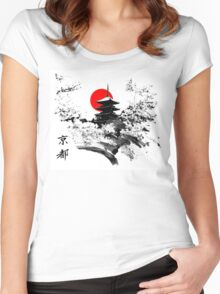 Kyoto Japan Old Capital Women's Fitted Scoop T-Shirt