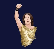 Tonight we all wear golden t-shirts! by houndofsiru