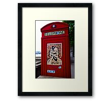 Anarchy U.K. Phone Booth - London Framed Print