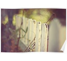 white fence of memories Poster
