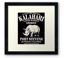 Kalahari Rhino Framed Print