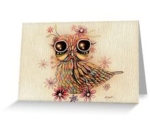 little flower owl Greeting Card