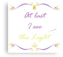 I See the Light Needlepoint Canvas Print
