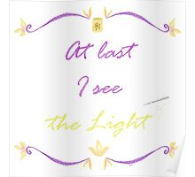 I See the Light Needlepoint Poster