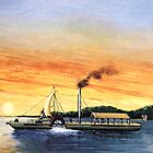 The Clermont - First Steamboat by Kate Eller