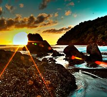 Rocks On Sunrise - Etty Bay, North Queensland by Giovanna Devlin