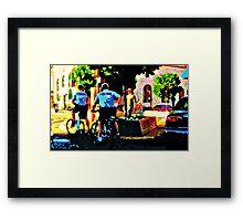 Bike Police Framed Print