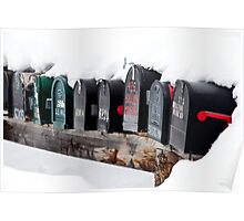 snowy mailboxes Poster
