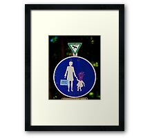 Alien crossing - Munich, Germany Framed Print