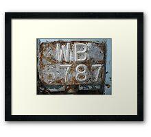 Missing 6!- Old number plate Framed Print