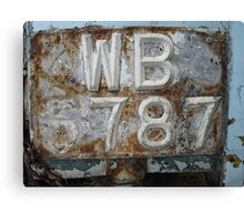 Missing 6!- Old number plate Canvas Print