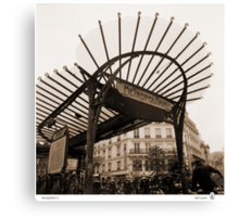 Metropolitain(1), Paris underground Canvas Print