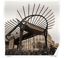 Metropolitain(1), Paris underground Poster
