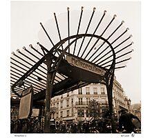 Metropolitain(1), Paris underground Photographic Print