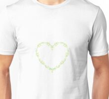 Lily of the walley heart wreath Unisex T-Shirt