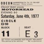 Motorhead Admit One by damodriver