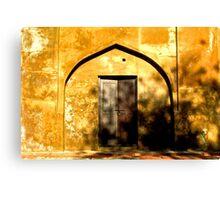 Golden doorway-Agra, India Canvas Print