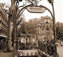 Metropolitain(2), Paris underground by Rob Layton