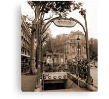 Metropolitain(2), Paris underground Canvas Print