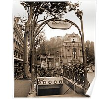 Metropolitain(2), Paris underground Poster