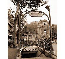 Metropolitain(2), Paris underground Photographic Print