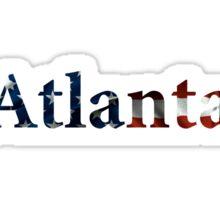Atlanta American Flag Sticker
