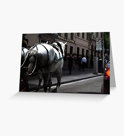 Melbourne street scene  Greeting Card