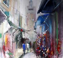 alley toward the mosque by vasenoir