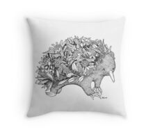 Botanical Echidna Throw Pillow