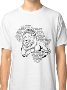 Lion - Africa Map Classic T-Shirt
