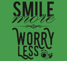 Smile more worry less Kids Tee
