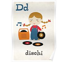 D is for Dischi Poster