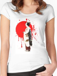 Japanese Geisha Kyoto Japan Women's Fitted Scoop T-Shirt