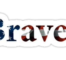 Braves American Flag Sticker
