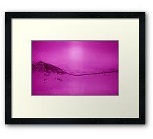 Acqua viola Framed Print
