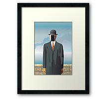 Grandson of Man (after Rene Magritte) Framed Print