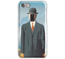 Grandson of Man (after Rene Magritte) iPhone Case/Skin