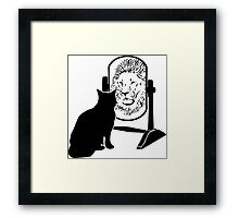 Lion - Cat Framed Print
