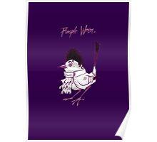 Purple Wren Poster