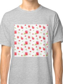 red watercolor roses Classic T-Shirt