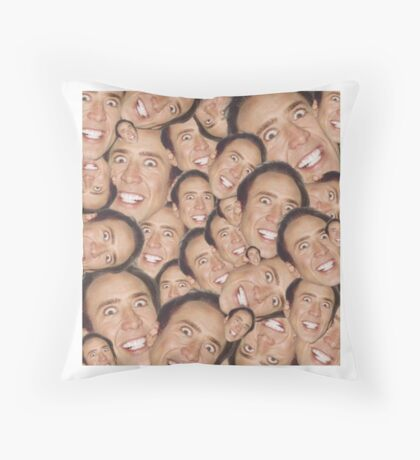 Get In The Cage Throw Pillow
