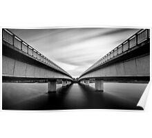 Commonwealth Bridge (Black and White) Poster
