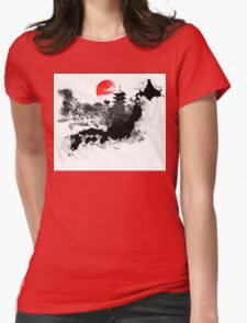 Abstract Japan Womens Fitted T-Shirt